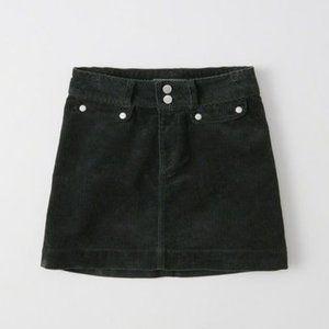 EUC Abercrombie Corduroy Button Green Skirt